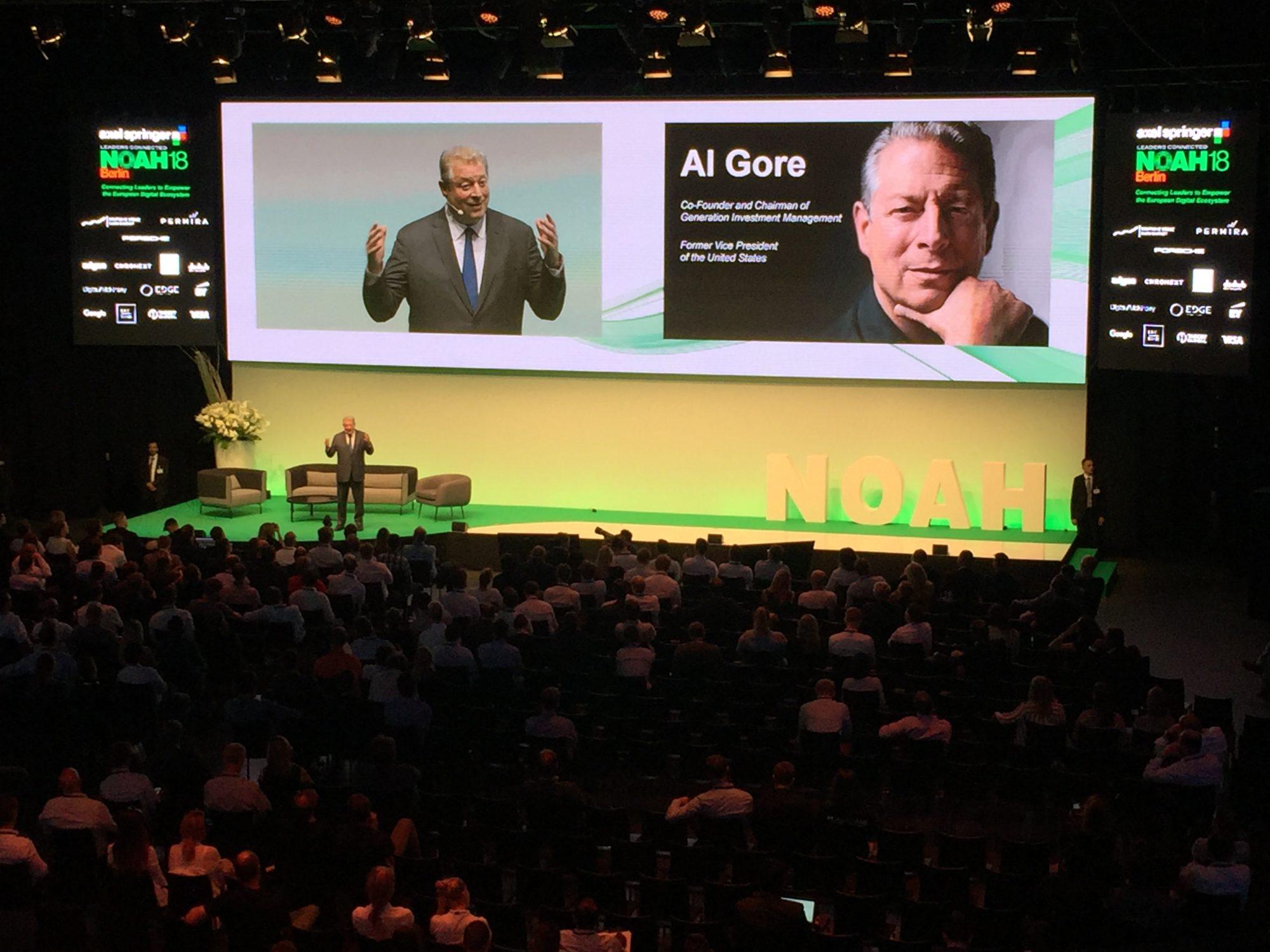 Al Gore auf der Noah 2018